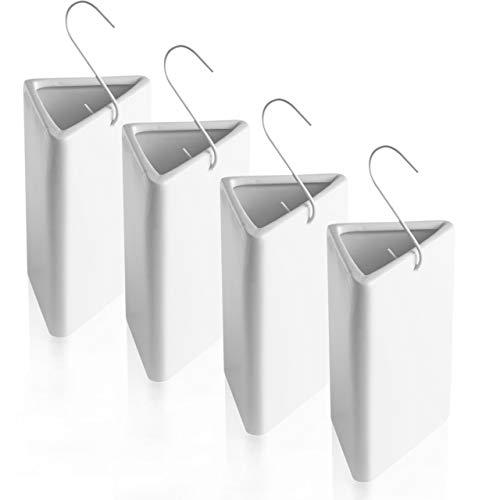 BonAura® Humidificador y calefactor de cerámica, 4 unidades, radiador con gancho,...