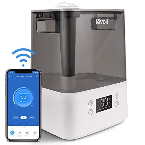 LEVOIT Top-Fill Humidificador Ultrasónico 6L de Vapor Frío a Bebes, Funciona con Alexa y...