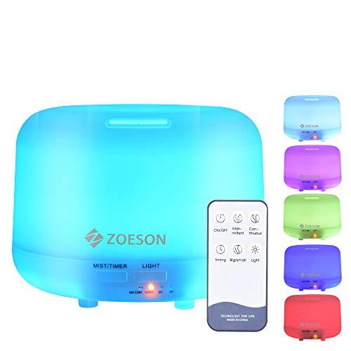 ZOESON Humidificador Ultrasónico, Difusores Humidificadores Aromas de 300ml, Difusor de...