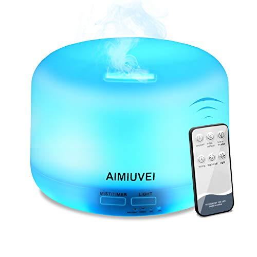 Humidificador Aromaterapia Ultrasónico con Control Remoto, AIMIUVEI Difusor de Aceites...