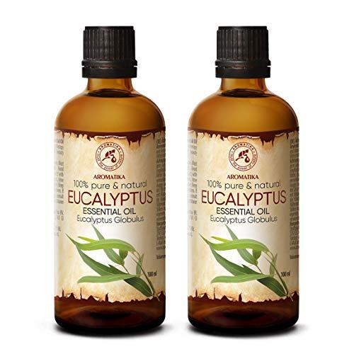 Aceite Esencial de Eucalipto 200ml - Eucalyptus Globulus - 100% Puro y Natural - Aceites...