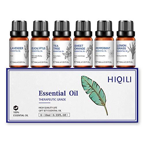 Aceites Esenciales para Difusor Humidificador, Aceite Esencial de Lavanda, Árbol del Té,...