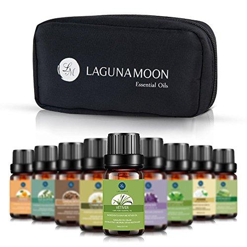 Lagunamoon Aceites Esenciales, Top 10 Set de Viaje de Aceites de Aromaterapia de Lavanda,...