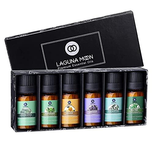 Lagunamoon Aceites Esenciales, Top 6 Set de Regalo de Aceites de Aromaterapia de Lavanda...