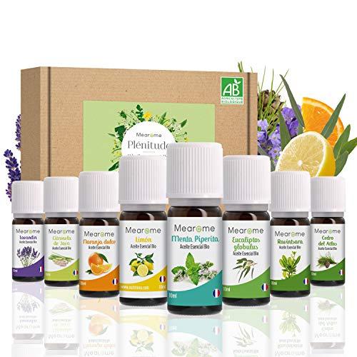 Set de Aceites Esenciales 100% Naturales Bio | Para Humificador Difusor, Aromaterapia |...
