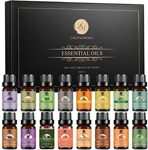 Lagunamoon Aceites Esenciales, Top 16 Set de Regalo de Aceites de Aromaterapia, Lavanda,...